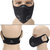 Activated Carbon Filter Face Mask Anti Dust Haze Bicycle Riding Black
