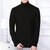 Mens Fashion High Collar Long Sleeve Solid Color Casual Sweaters