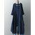 Vintage Mujer algodón bolsillo de tela escocesa irregular dobladillo Maxi Vestido