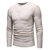 Mens Casual Pure Color O-Neck Pullovers Breathable Cotton Long Sleeve Knit Sweaters