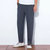 Mens Vintage Chinese Style Linen Pants Cotton Casual Comfy Straight Leg Trousers