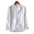 Mens Cotton Solid Color Breathable Long Sleeve Fashion Casual Shirts