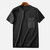 Mens Fashion Chest Pocket Cotton Solid Color Crew Neck Casual T-Shirts