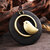 Vintage Alloy Bird Round Wood Plate Pendant Long Necklace Women lothing Accessories