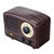 DIY Hand Cranked Retro Radio Music Box Classical Wooden Box for Gifts