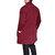 Mens Casual Mid longitud Cardigans de color sólido de manga larga suelta cómoda