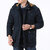 Mens Winter Fleece Thickened Warm Detachable Hood Multi Pockets Parka Jacket