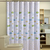 Cartoon Fishes Printed Bathroom Curtain Waterproof Moldproof Polyester Shower Curtains and Hook