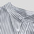 Mens Striped Stand Collar Short Sleeve Round Hem Casual Loose Shirts
