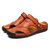 Menico Men Hand Stitching Hollow Out Leather Sandals