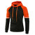 Modish Casual Cotton Long Sleeve Color Block Pullover Hoodies Sweatshirts for Men