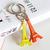 Mini llavero colorido de la torre Eiffel del e