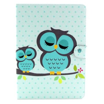 Owl Pattern Folio PU Leather Case Folding Stand Cover For Samsung T800