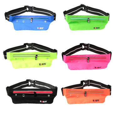 BUBM Waterproof Sport Waist Belt Bag Pack Pocket Purse Running Jogging Pouch