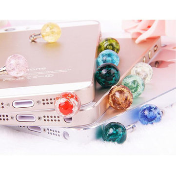 3.5mm Bead Luminous Headphone Jack Dust Plug For Tablet Random Shipment