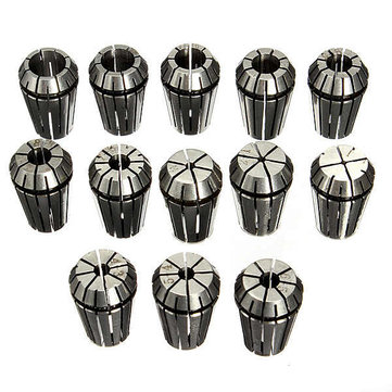 Buy Drillpro 13pcs 1-13mm ER20 CNC Carving Machine Milling Chuck Collets for $22.46 in Banggood store