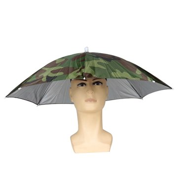 ZANLURE Foldable Sun Umbrella Fishing Hiking Golf Camping Headwear Cap Head Hats Outdoor