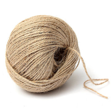 80M Rustic Jute Twine Hemp String Cord for Gift Packing