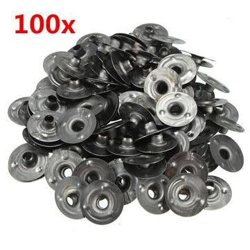 100pcs 15*3mm Waxed Candle Wick Metal Sustainers