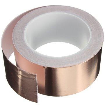 50mmX20m Copper Foil Tape Single Conductive EMI Shielding Adhesive