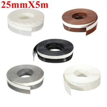 25mmX5m Window Door Silicone Rubber Seal Ring Sticker Seal Strip Adhesive
