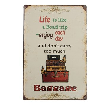 Life Trip Tin Sign Vintage Metal Plaque Poster Bar Pub Home Wall Decor