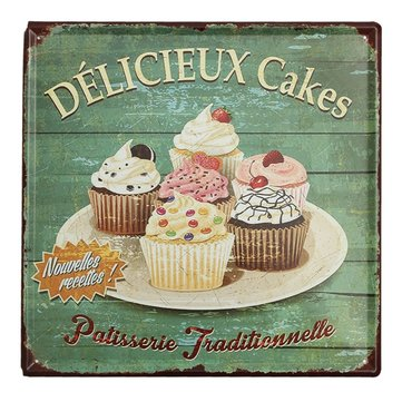Cake Tin Sign Vintage Metal Plaque Poster Bar Pub Home Wall Decor