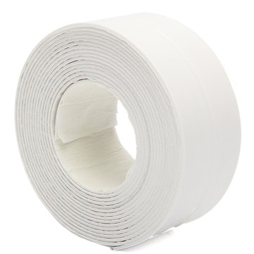 3.8X335cm Bath Sink Wall Seal Ring Strip Self-adhesive Tape Waterproof Mildew Proof