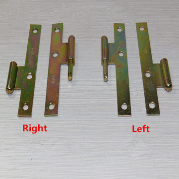 1 Pair 4 Inch H Type Color Zinc Plated Furniture Door Hinge Furniture Fitting