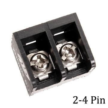 10pcs 2-4 Pin 8.25mm Barrier Screw Terminal Blocks Connectors Black