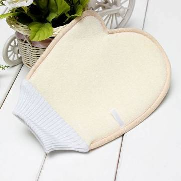 Microfiber Loofah Cotton Bath Glove Towel