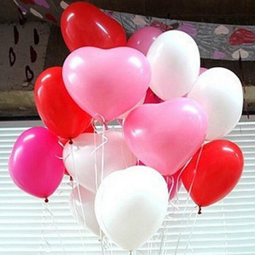 50Pcs Heart-Shaped Latex Balloons Party Holiday Decoration Ballon