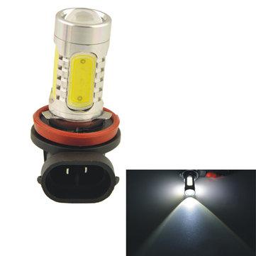 Car Auto H11 11W 5SMD LED Lens Headlamp Fog Light Bulb-white(12V)
