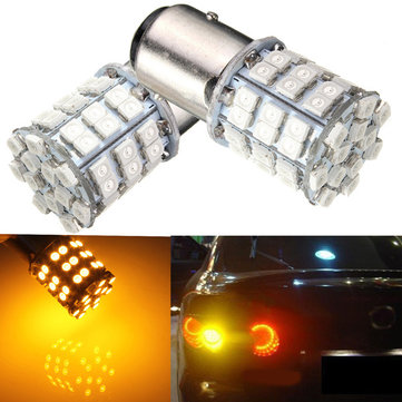 3W 1157 3528 54led Amber Yellow SMD LED Head Turn Signal Light Bulb Lamp