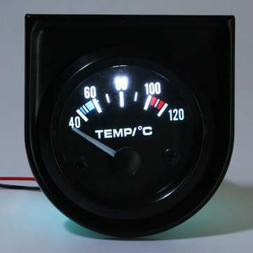 52mm 2 pulgadas de calibre temp temperatura del agua puntero del coche universal de 40-120 ℃ blanco LED