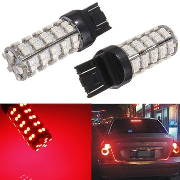 2.5W DC12V 3528 68 LED SMD Red Brake Stop Light Bulb
