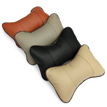 2PCS Breathe Car Auto Seat Head Neck Rest Cushion Head Rest Pillow Pad