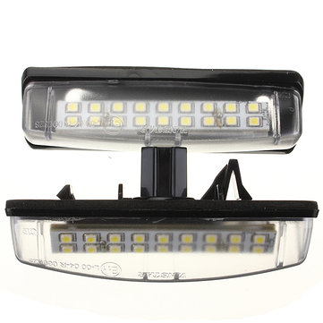 2PCS 18 SMD LED Number License Plate Light For LEXUS