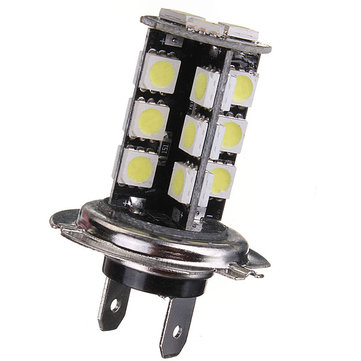 H7 CANBUS Error Free 27 SMD 5050 LED Bright White Fog Head Light