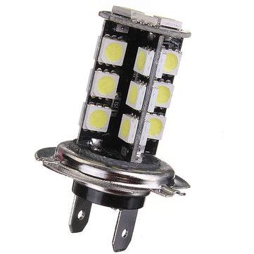 H7 CANBUS Error Free 27 SMD 5050 LED Bright White Fog Head Light