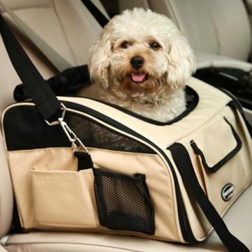 Pet Dog Travel Car Bag Pet Safe Car Cage Bag