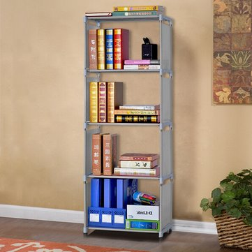 Simple Book Shelf Bookcase Shelf Storage Rack DIY 5 Layers Bookcase