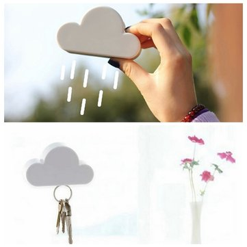 Storage Holder White Cloud Shape Key Holder Magnetic Magnets Key Holder