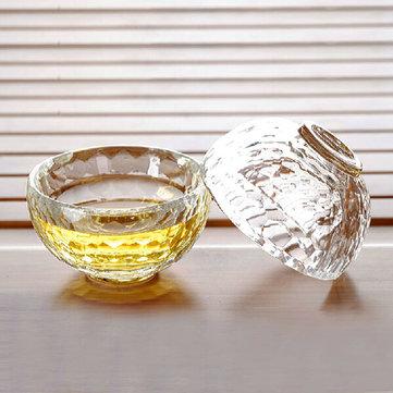 작은 두꺼운 내열성 유리 컵 크리스탈 유리 티 컵 장식 막대 액세서리