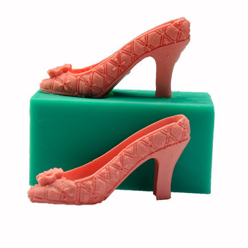 3D Silicone High Heel Mould Fondant Cake Lady Shoe Mold
