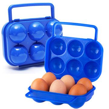 휴대용 플라스틱 6 계란 상자 케이스 홀더 접는 스토리지 박스 계란 컨테이너