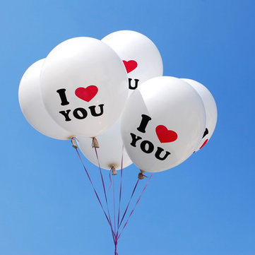 100pcs I LOVE YOU balloons 10 Inch Romantic Wedding Proposal Party Decoration Balloon