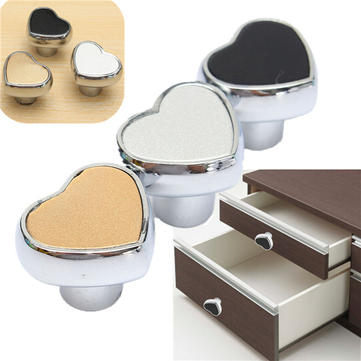 Cute Heart Furniture Knobs Drawer Cabinet Handle Durable Elegant Door Pull
