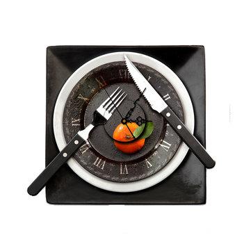 Sticker pag 3d orologio da parete Stickers murali stoviglie ristorante autoadesivo della parete regalo a casa decorazione