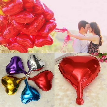 Heart Foil Helium Balloons For Wedding Birthday Party Engagement Decoration